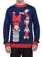 Tipsy Elves Men's Santa's Little Helpers Elf Christmas Sweater - Ugly Christmas Sweater