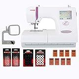 Janome Memory Craft 350E Embroidery Machine w/13 Piece Bonus Kit