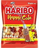Haribo Gummi Candy, Happy-Cola, 5 oz. Bag (Pack of 12)