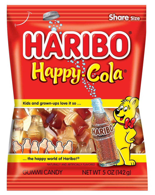 amazon com haribo gummi candy happy cola 5 oz bag pack of 12