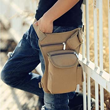 Bolso de Cintura, CAMTOA Hombre Bolsas de Cintura/Lona Bolsas de Viaje bolsos/Outdoor Sport Bag/Bolso deportivo/Drop Leg Bag/Leg Bags para Trekking ...