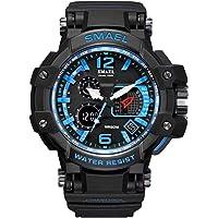 Smael Analogue Digital Dual Quartz Movement Military Design Water Resistant Sports Men's Watch -1509