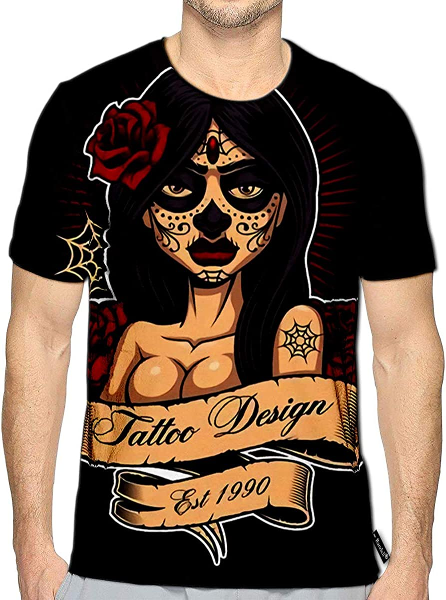 3D Printed T-Shirts Chicano Tattoo Girl Design Perfect On Shirt All Elements Sho