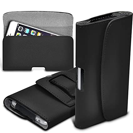 premium selection 92534 7eaec ONX3 (Black) Samsung Galaxy A5 (2017) Case Premium Horizontal Faux Leather  Belt Holster Pouch Cover Case