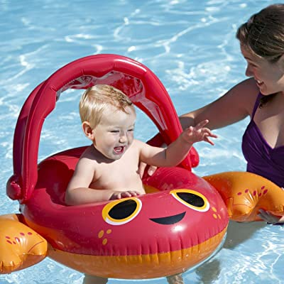 SwimWays Sun Canopy Baby Boat: Toys & Games