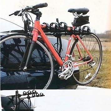 ForceSthrength Portaequipajes Bicicleta Triple Aspiraci/ón en el Techo Portaequipajes para autom/óvil Instalaci/ón r/ápida Rojo