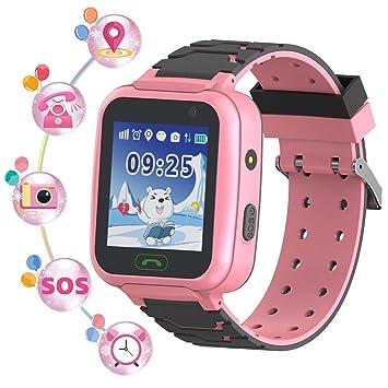YENISEY Rastreador de GPS para niños Smart Watch a Prueba de Agua para niños Smartwatches IP67 A Prueba de Agua 1.4
