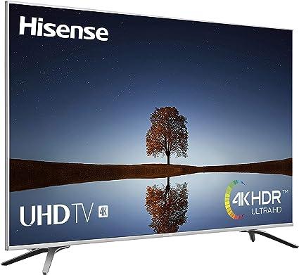 Hisense H50A6500, TV 4K Ultra HD, HDR, Precision Color, Super Contraste, Remote Now, Smart TV VIDAA U, Diseño Metálico, Modo Deportes, WiFi/Ethernet/USB, 50