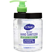 COSMO Advanced Instant Antiseptic & Disinfectant Hand Sanitizer, 1000 ml