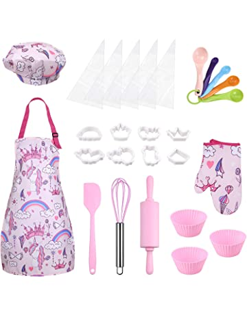 Luckycyc Kids Cooking Baking Set 11 13 Pcs Kids Chef Set Children Kitchen Role Play Costume Toy Kitchen Pretend Play Toys With Apron Chef Hat Cooking Utensils For Boys Girls 3 10 Year Old