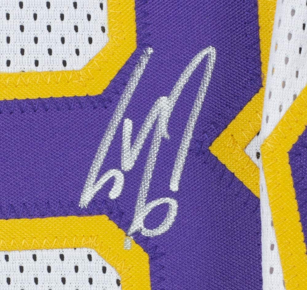 Shaquille ONeal Signed White Custom Basketball Jersey w//Kobe 24 Patch BAS ITP