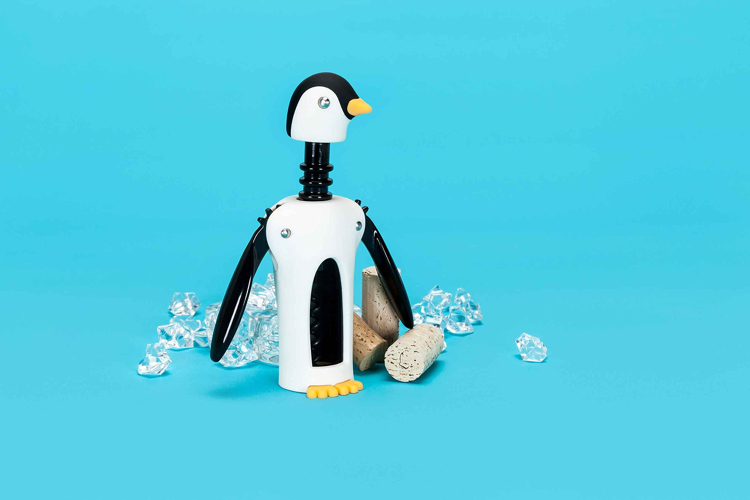 Kingsley South Pole Penguin Soft Touch Winged Wine Opener Corkscrew by TrueZoo