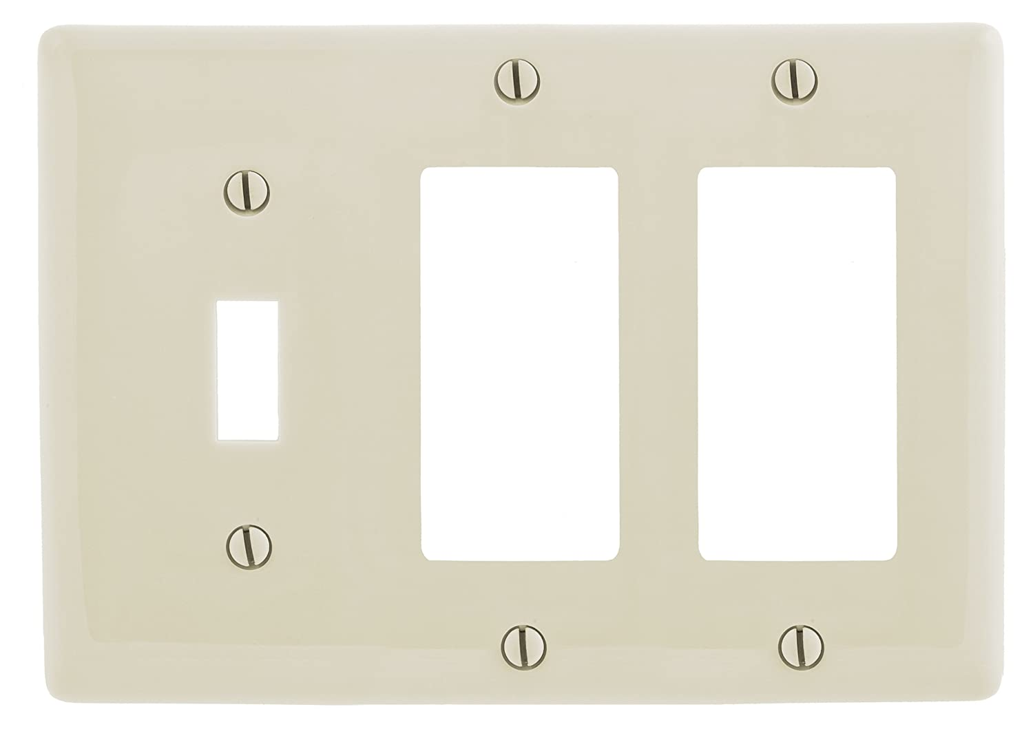 Light Almond Bryant Electric Np1262la 3 Gang 1 Toggle 2 Decorator Gfci Wall Plate Home Kitchen Lighting Ceiling Fans