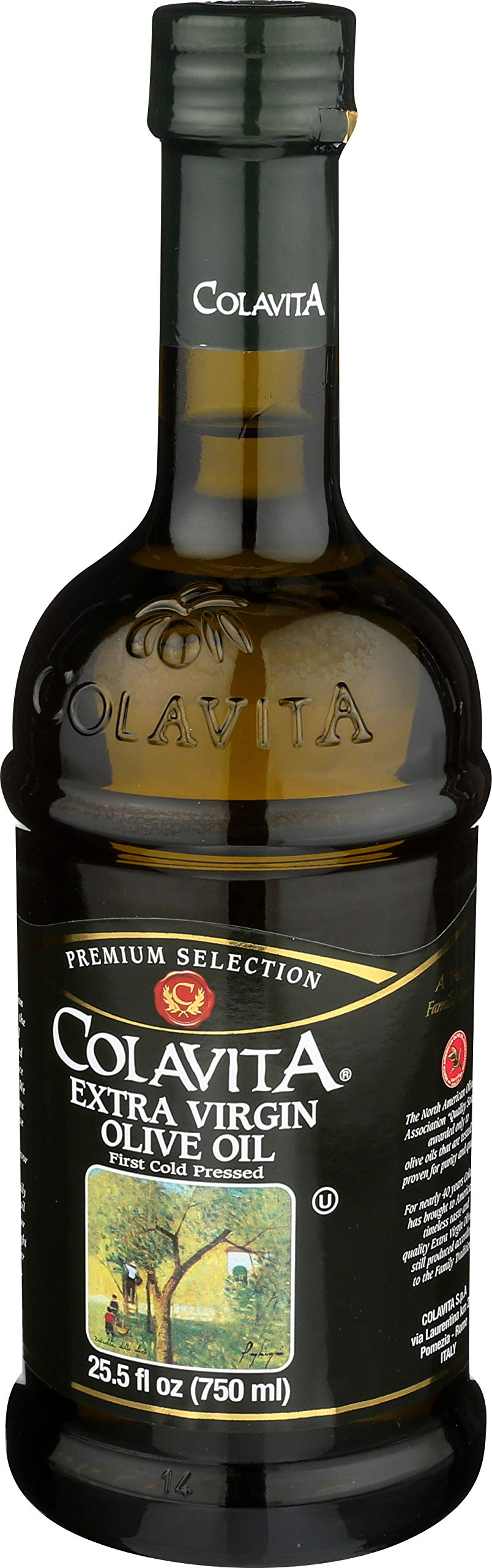 Colavita Extra Virgin Olive Oil, First Cold Pressed, 25.5 fl. oz., Glass Bottle by Colavita (Image #9)