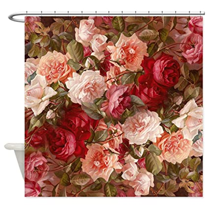 CafePress Floral Pink Roses Shower Curtain Decorative Fabric 69quot