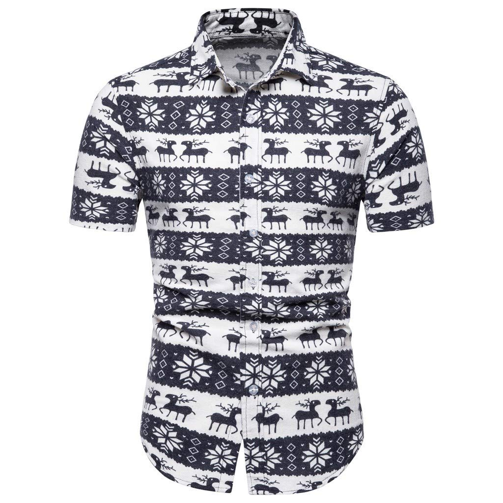 ffa66dba571 MISYAA Button Down T Shirts for Men, Xmas Floral Undershirt Tank Top  Fashion White Polo Shirt Only Left Mens Tops at Amazon Men's Clothing store:
