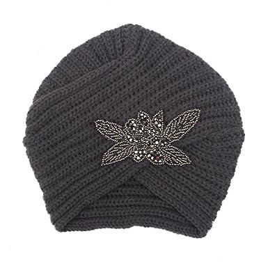 Bzline Frauen Winter Stricken Häkeln Ski Hut Turban Kopfbedeckung