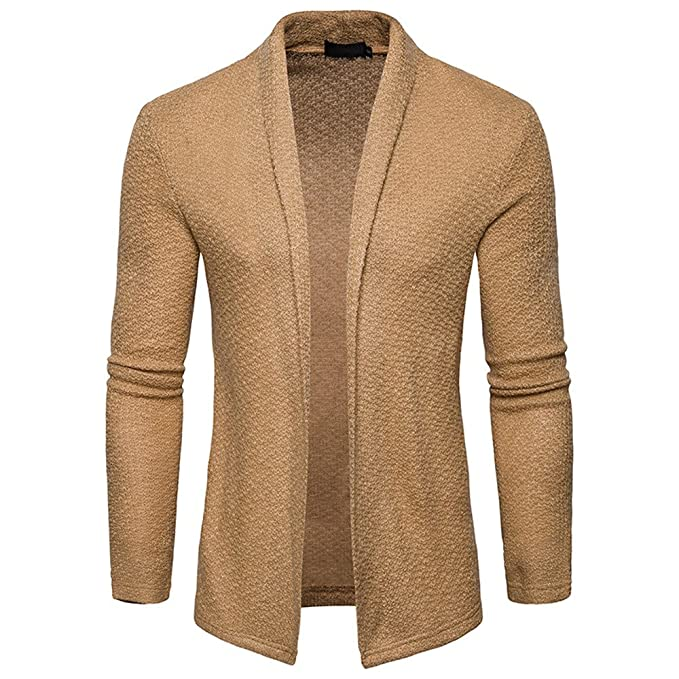 Gusspower Hombres Abrigo de Punto Delgado Chaqueta para Hombre Casual Suéter  Camisetas Tops Blusa Deportivas Pullover c5057309bc0d