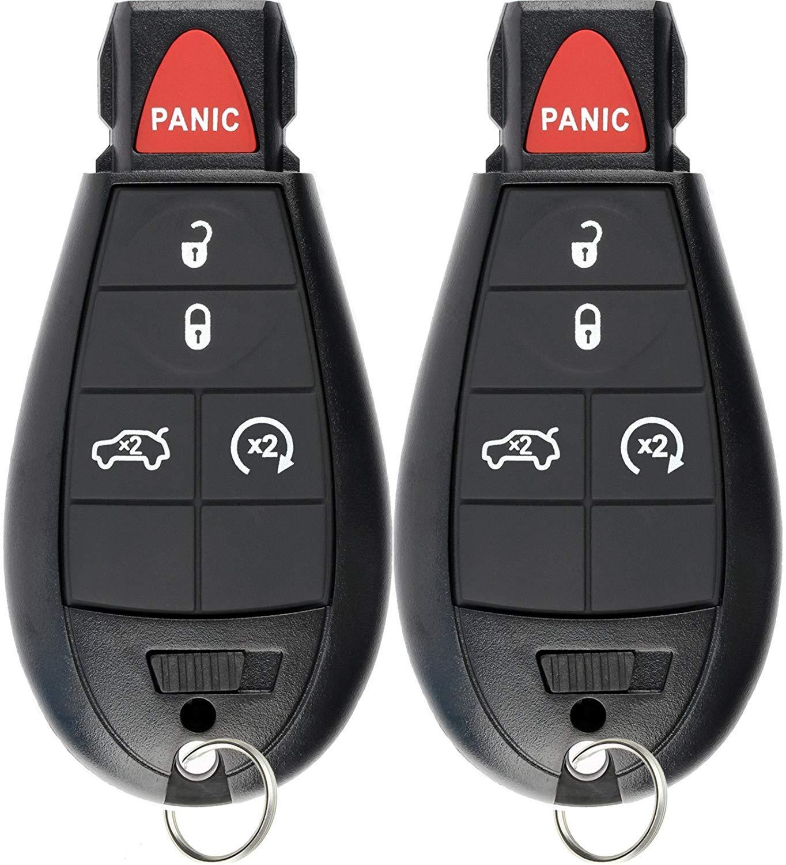 KeylessOption Keyless Entry Remote Smart Key Fob Ignition Alarm for Dodge Dart M3N32297100 (Pack of 2)