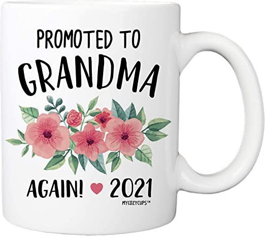 Best Coffee Subscription 2021 Amazon.com: Baby Reveal Mug for Moms   Promoted To Grandma Again