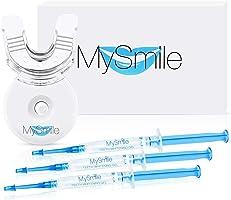 MySmile Teeth Whitening Kit 10 Mins Express Result Stain Remover Non Sensitive Led Accelerator Light 18% Carbamide...
