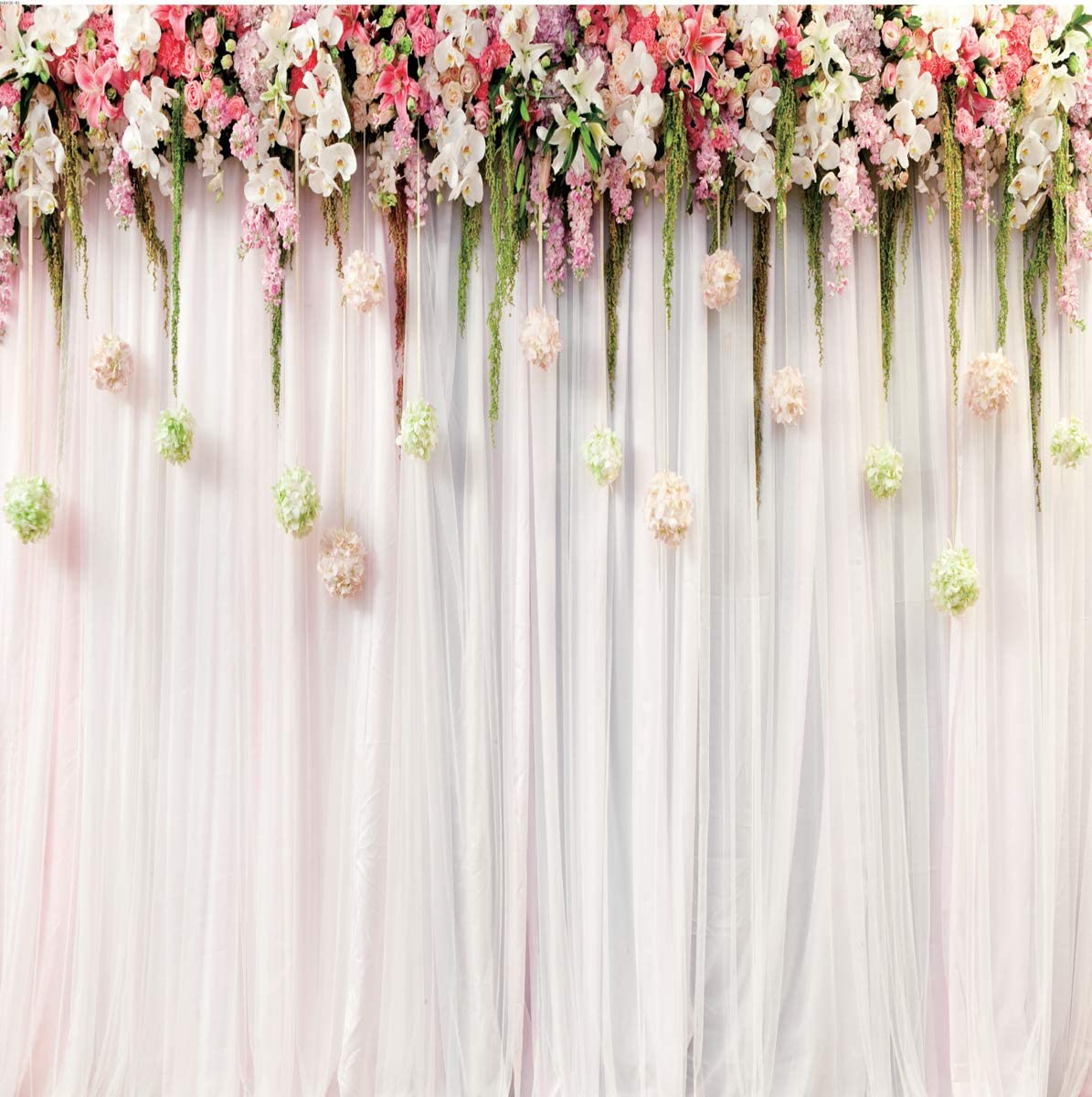 8x8FT Vinyl Wall Photography Backdrop,Colorful,Modern Graphic Ornament Background for Baby Birthday Party Wedding Studio Props Photography