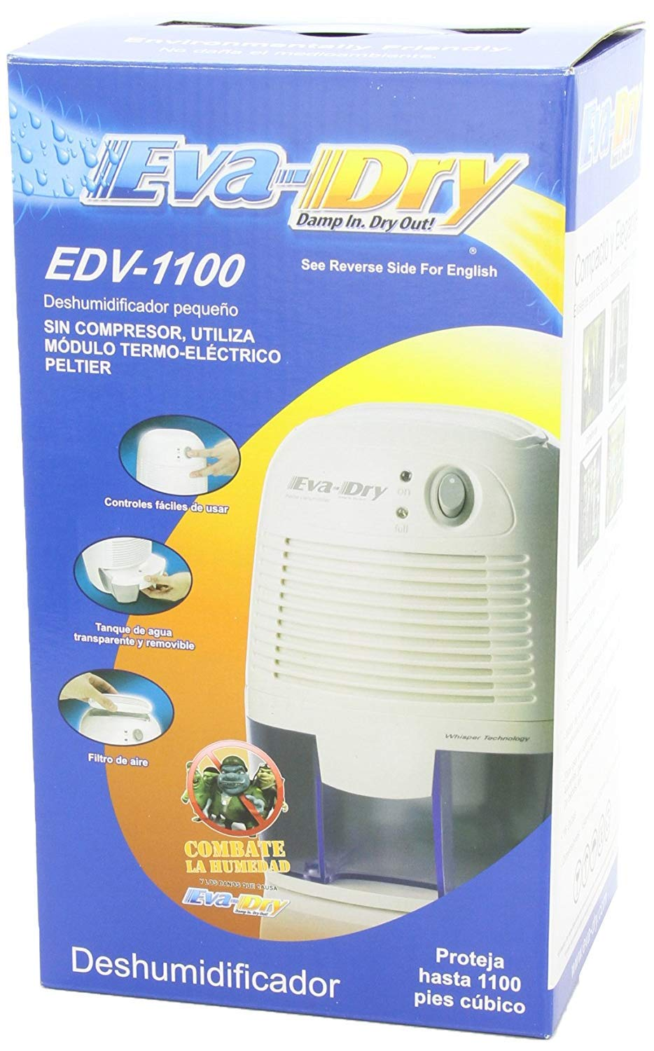 Amazon.com: Eva-dry Edv-1100 Electric Petite Dehumidifier, White: Home Improvement