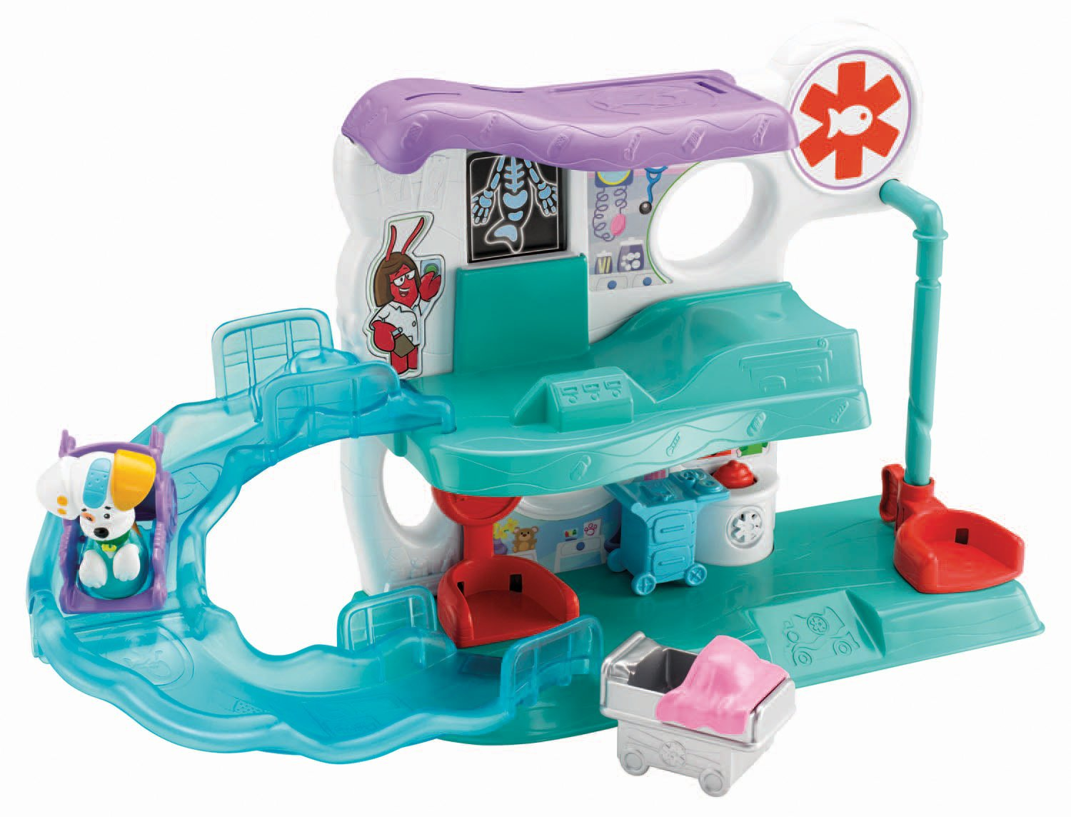 amazon com fisher price bubble guppies check up center toys u0026 games