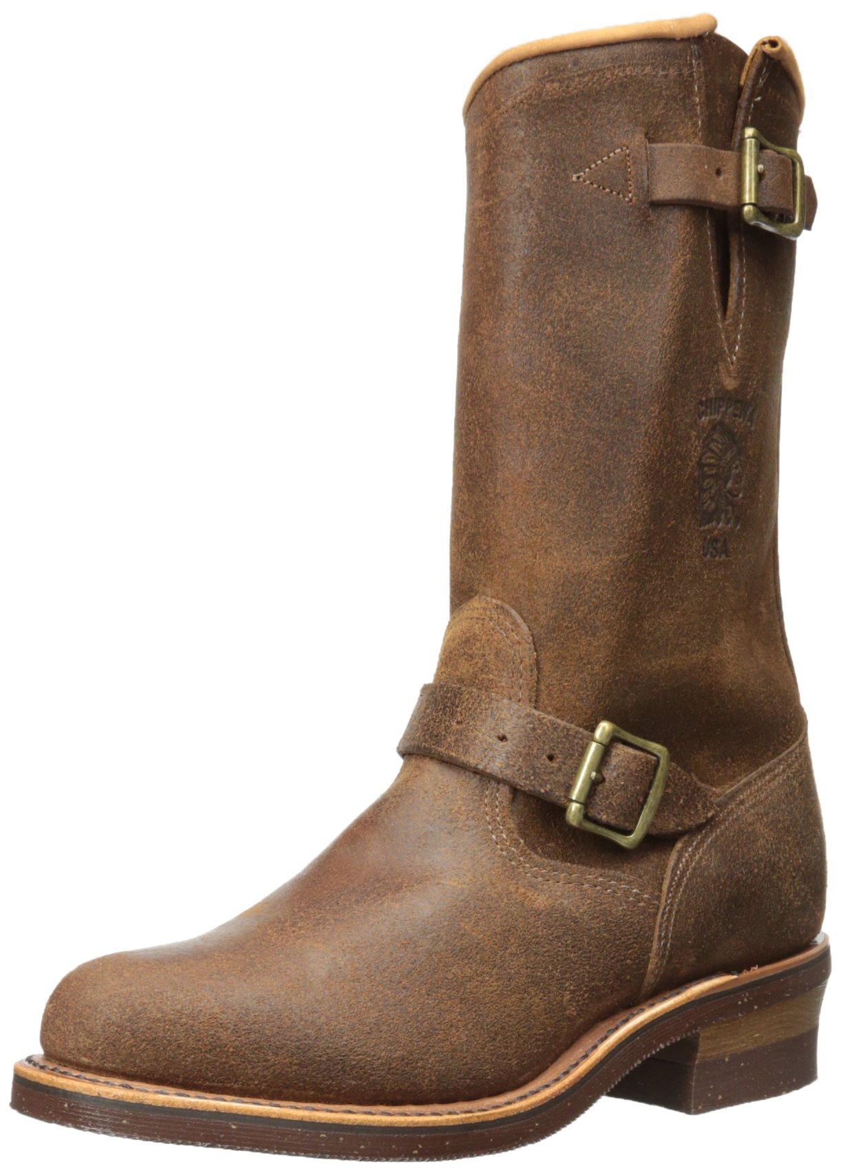 Chippewa Men's 11'' 27911 Engineer Boot,Brown,5 E US