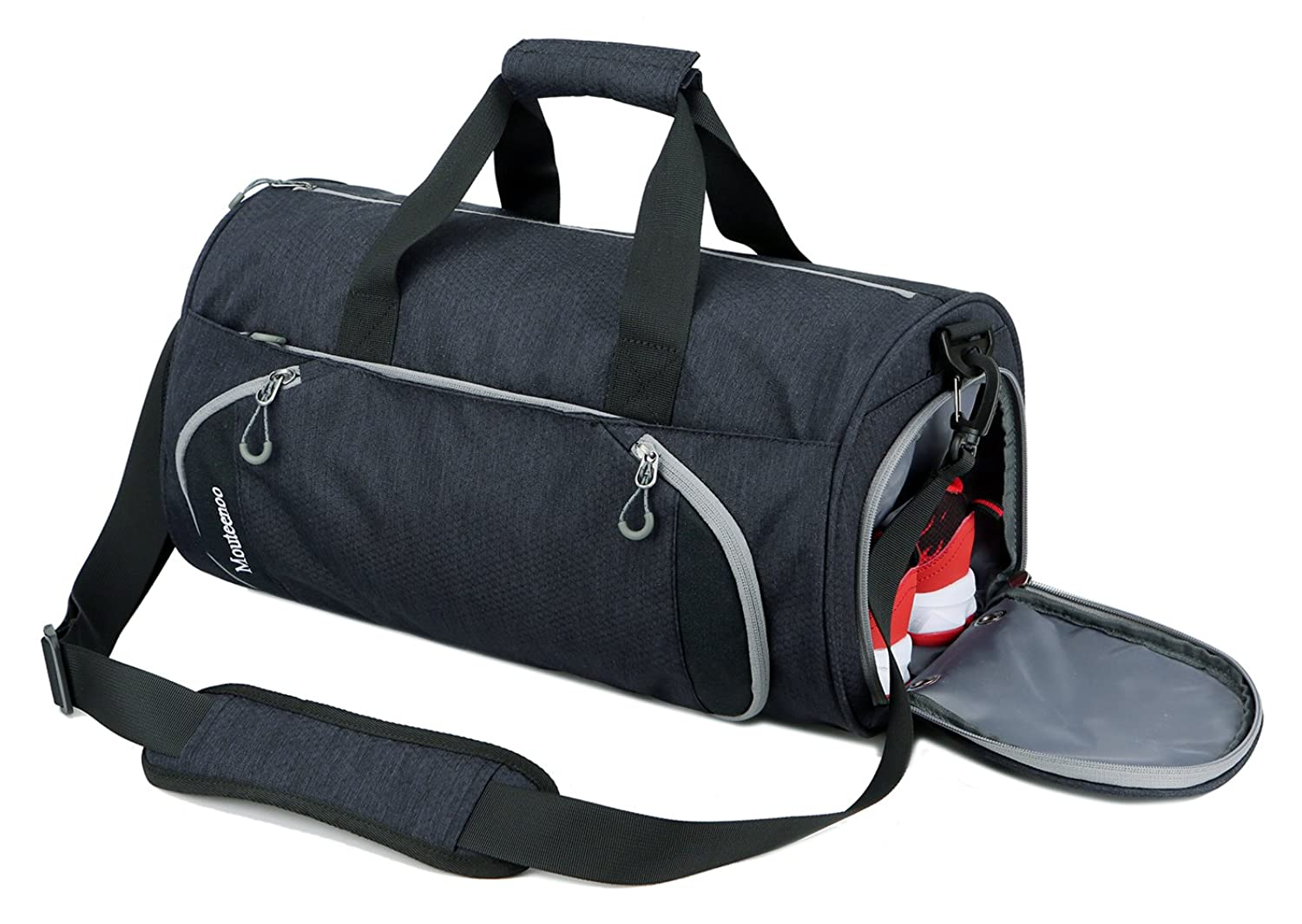 c667a2c8db2 Gym Sports Small Duffel Bag for Men and Women with Shoes Compartment -  Mouteenoo