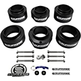 "Supreme Suspensions - Sidekick Lift Kit 2"" Front Suspension Lift + 2"" Rear Suspension Lift CNC Machined High-Crystalline Delrin Suzuki Sidekick Leveling Kit (Black) PRO"