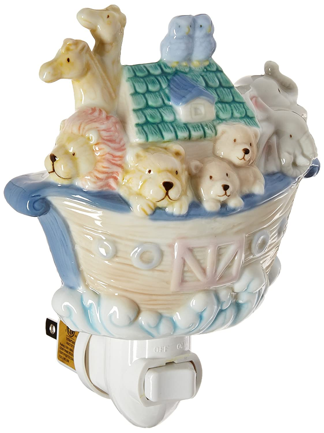 Cosmos 5653 Fine Porcelain Noah's Ark Night Light, 5-1/2-Inch