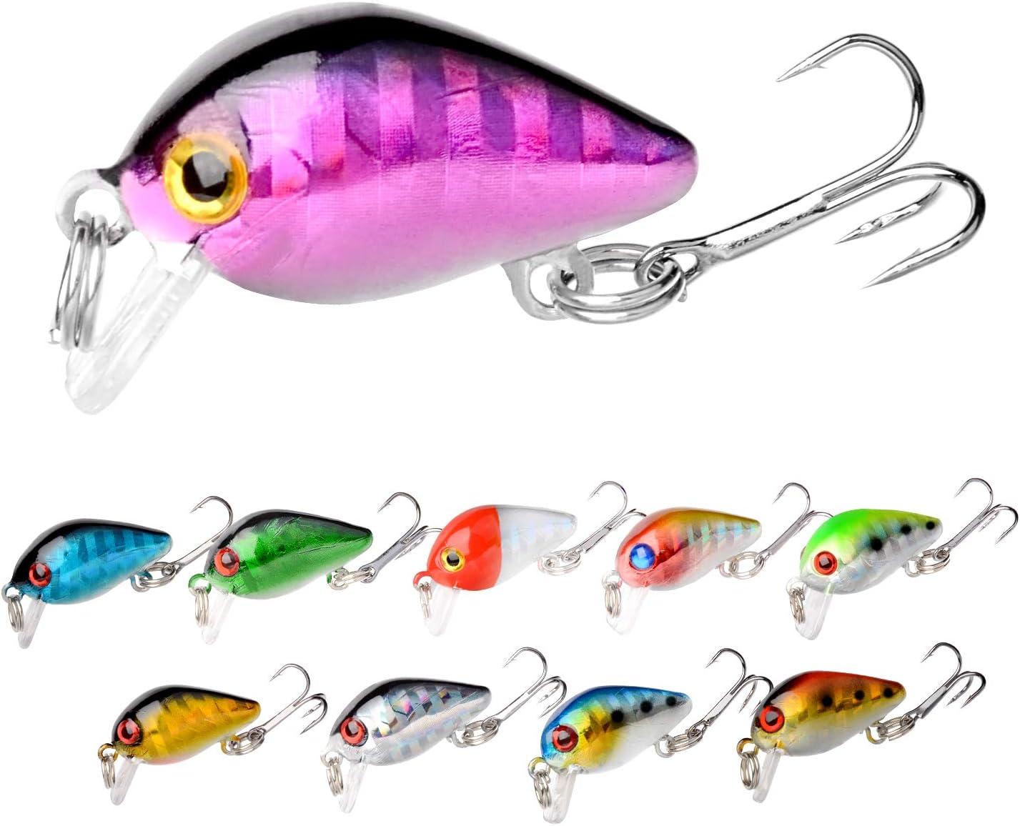5PCS//10PCS Hard Fishing Lures Fish Crankbaits Bass Minnow Baits Swimbait Tackle