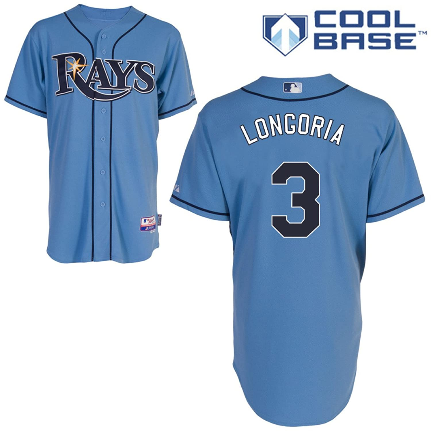 003e48ea93a coupon for amazon mlb mens tampa bay rays evan longoria six button cool  base authentic alternate