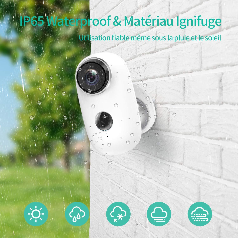 Caméra de Surveillance Batterie Rechargeable, HeimVision HMD2 Caméra IP WiFi Extérieur sans Fil, Détection de Mouvement, Audio Bidirectionnel, Vision Nocturn & IP65 pour Maison/Bébé/Animal