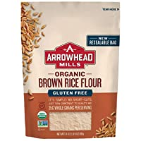 Arrowhead Mills Organic Brown Rice Flour, Gluten Free, 24 Ounce Bag (Pack of 6)