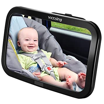 Espejo Retrovisor Coche de VicTsing para Vigilar al Bebé en el Coche, 360° Ajustable Irrompible Interior Espejo Coche Bebé, para Los Asientos de Niños ...