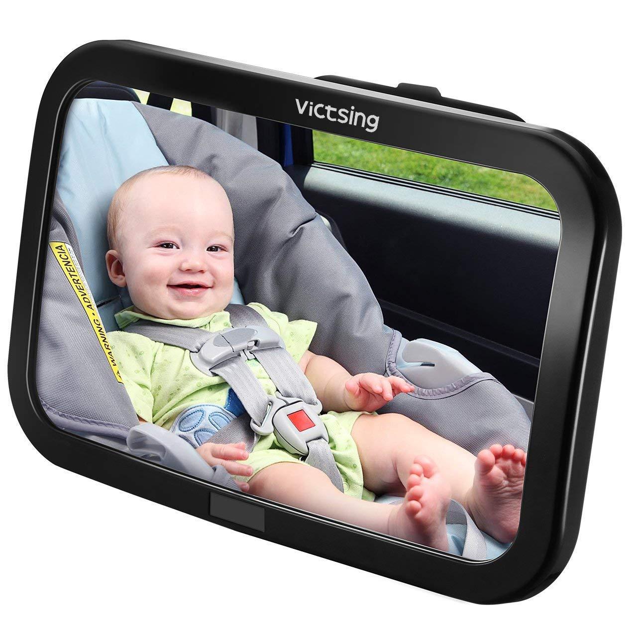 Espejo Retrovisor Coche de VicTsing para Vigilar al Bebé en el Coche, 360° Ajustable