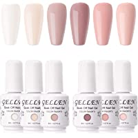 Gellen Gel Nail Polish Kit- Blush Tones Series Natural Nudes 6 Colors, Pastel Pinks Gel Polish - Popular Nail Art Design…