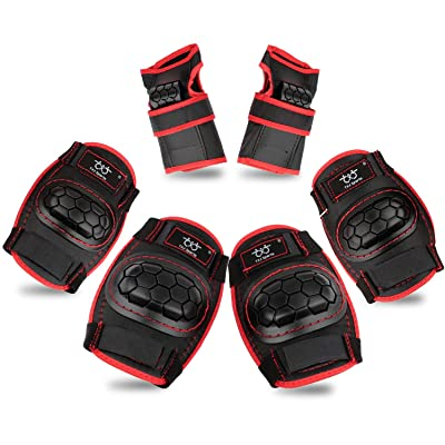 Kids Knee Pads and Elbow Pads with Wrist Guards Protective Gear Set for Skating Rollerblading Skateboard BMX Scooter Cycling : Sports & Outdoors [5Bkhe0202360]