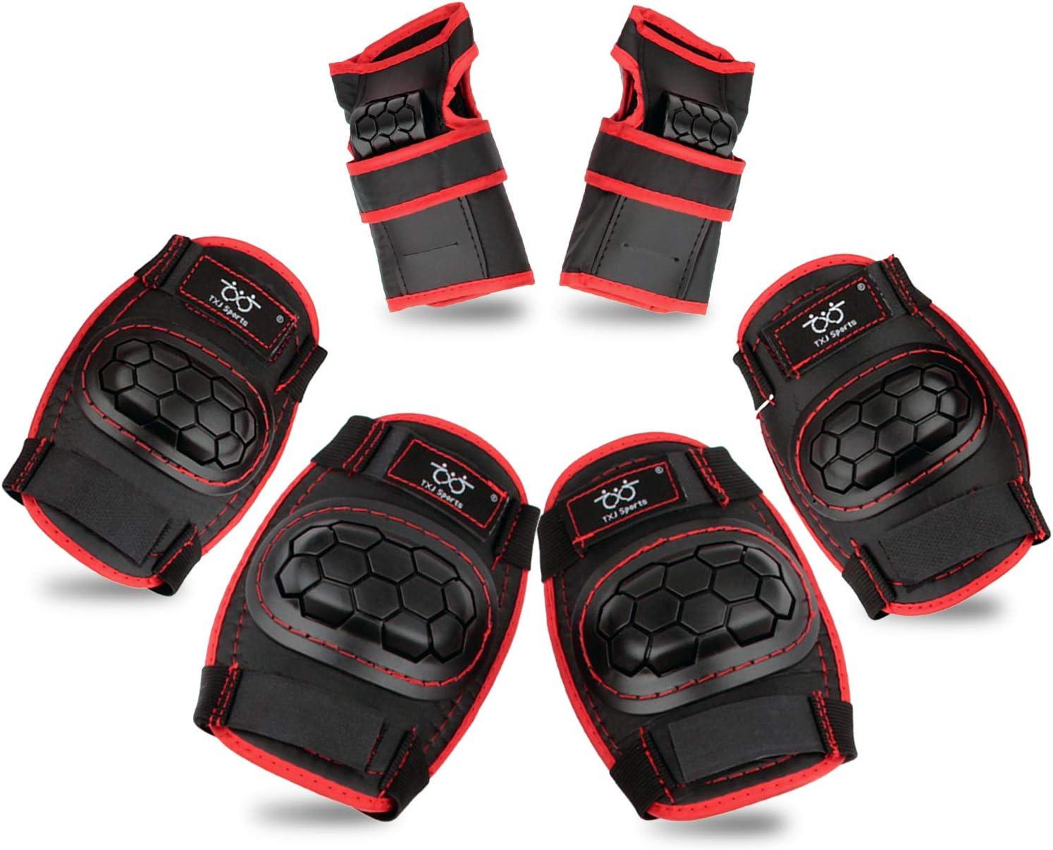 6x Skating Protective Gear Set Elbow Knee Wrist Pads Bike Skateboard Adult Kids
