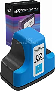 Speedy Inks Remanufactured Ink Cartridge Replacement for HP 02 (Cyan)