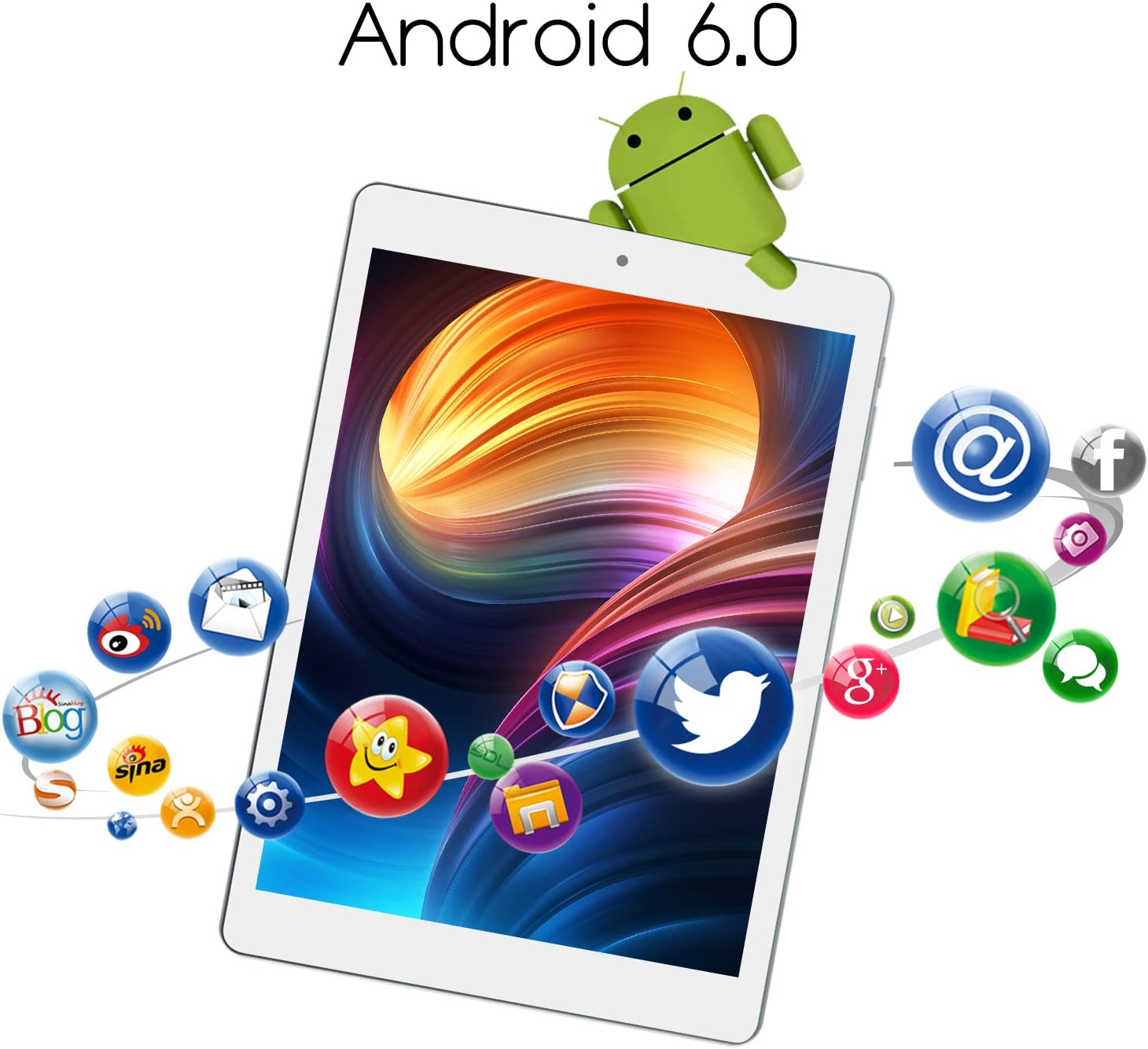 ALLDOCUBE iPlay8 Tablet, 7.85 inch 1024x768 IPS Screen Tablet PCs, MTK MT8163 Quad Core 1.3Ghz, 1GB RAM, 16GB ROM, Android 6.0, Support HDMI Output, ...