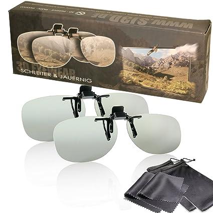 Gafas de clip 3D pasiva - Edición Especial Oro - Para RealD - un montaje/