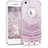 kwmobile Crystal Case Hülle für > Apple iPhone SE / 5 / 5S < TPU Silikon Indische Sonne - Schutzhülle Cover klar