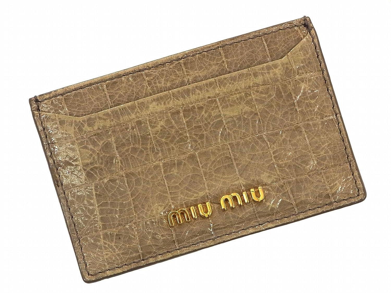 b6b63be25c6d [ミュウミュウ] miumiu カードケース クロコ レザー X9792 中古 B01AXOWPQY -バッグ小物