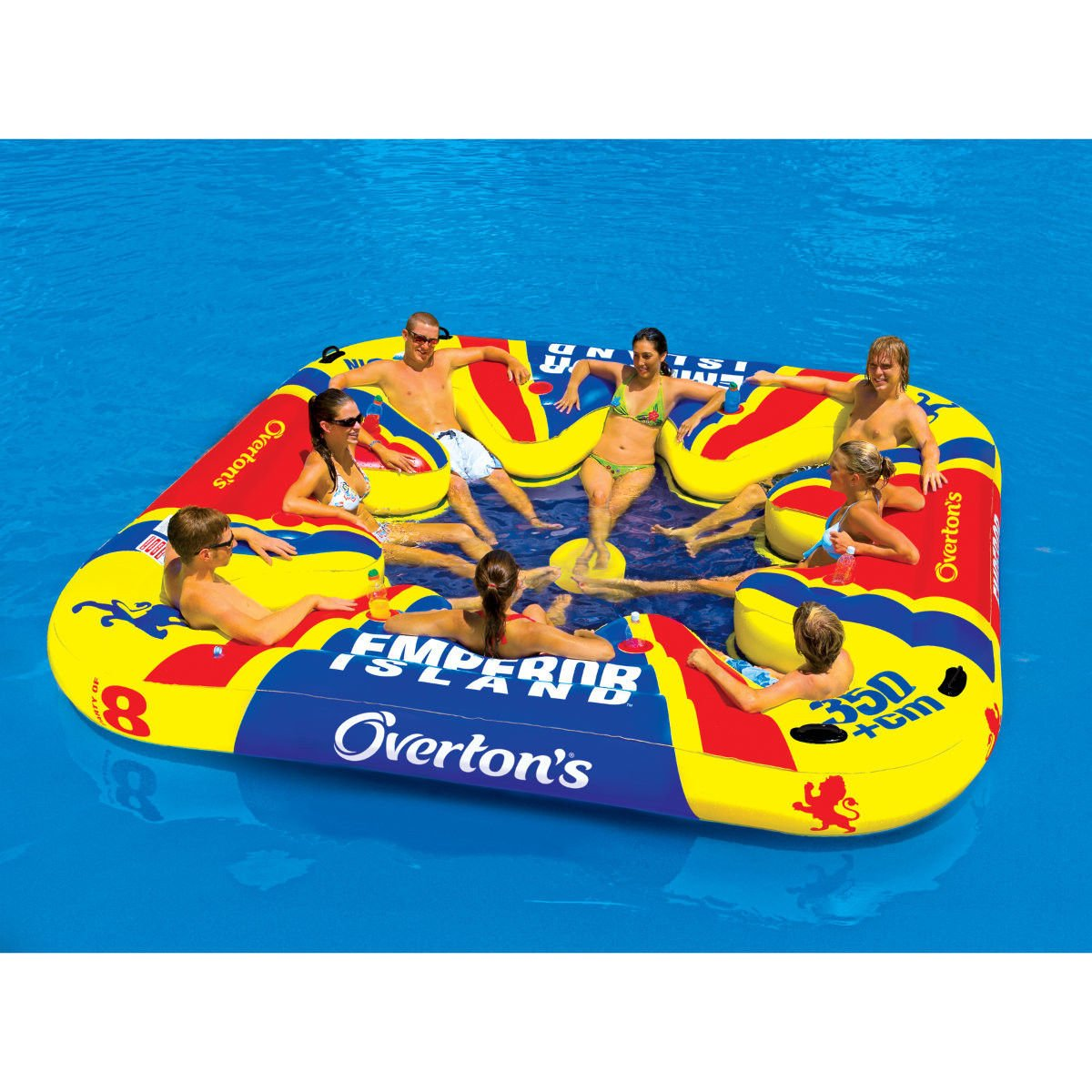 Emperor Island Party Lounge Raft River Lake Dock Inflatable by Overton's by Overton's