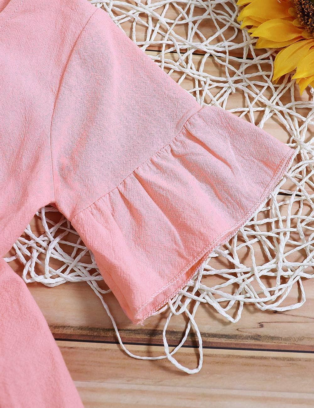 Little Kids Girl Clothes Summer Short Sets Cotton Casual Coat Jeans 2 Pcs Pants Toddler Outfit Sets