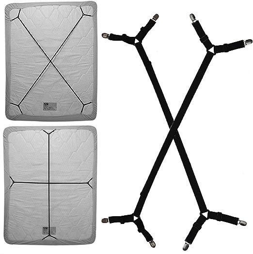 Sheet Straps Bed Sheet Adjustable Crisscross Fitted Sheet Band Grippers