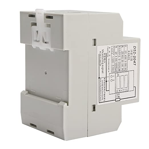 Medidor DROK® de la energía eléctrica, con carriles DIN, multifuncional, pantalla digital, CA de 80 V a 300 V, 100 A, amperímetro y voltímetro, ...